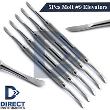 5 Pieces Dental MOLT # 9 Periosteal Elevators Implant Surgical Gingival Tissues