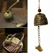 4*4cm Small Metal Bell Temple Garden Handmade Copper Fish Hanging Wind Chime