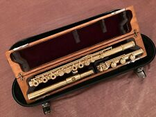 Solid 18K gold crown 24K gold gilt  Powell 2100 flute B-ft, pointed key cup arms