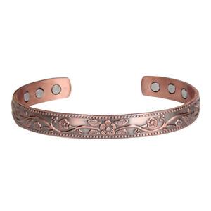 1PC Delicate Exquisite Pure Copper Bangle Bracelet Wristlet for Decoration Men
