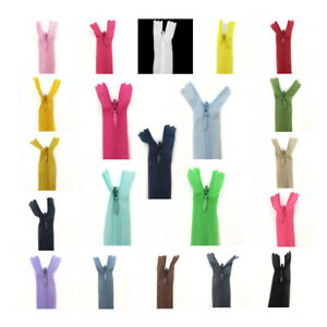 No.3 INVISIBLE / CONCEALED 18 / 22 INCH NYLON ZIPS *33 COLOURS* SEW HABERDASHERY