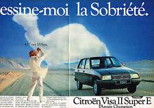 PUBLICITE ADVERTISING 104  1982  CITROEN VISA 2 SUPER E ( 2p) LA SOBRIETE