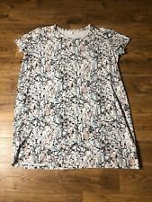 Pink Multi Patterned Short Sleeve Dress From COS Size L