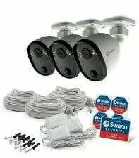 Swann Home Security System | 3 Outdoor Spotlight Cameras | Free Cloud Recording