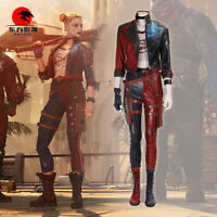DFYM Harley Quinn Cosplay Costume Leather Suicide Squad Kill The Justice League
