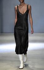 $850 Authentic TIBI Women's Runway Celebrity Black Amoret Satin Gown
