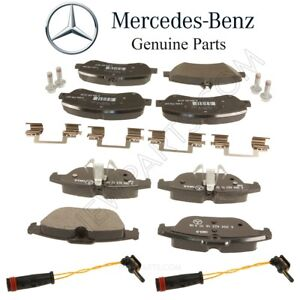 For Mercedes X204 GLK350 Front & Rear Brake Pad Sets w/ Sensors & Shims OES