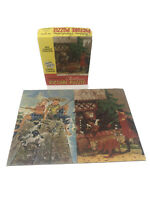 """2 VINTAGE TUCO PUZZLES In One Box # 3040 Both Complete 10.5""""x7"""" A Good Trade GUC"""