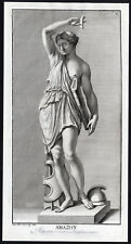 Antique Master Print-STATUE-AMAZON-BOW-QUIVER-CELIMONTANA--Anonymous-ca. 1720