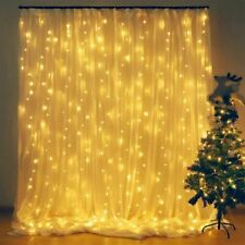 Curtain Fairy String Light 300 LED Wedding Home Window Christmas Decoration Lamp
