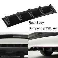 "23"" x6"" Universal Lower Rear Bumper Lip Diffuser Shark Fin Spoiler Kit 5 Fin"