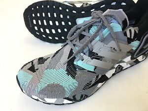ADIDAS Ultraboost 20 Men's Black Grey Mint Camo Geometric Size 12, RARE