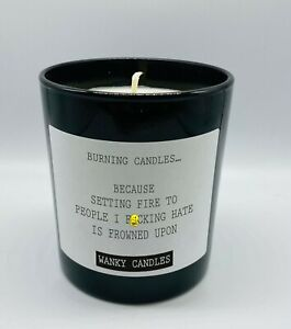 Wanky Candle Novelty Birthday Gift Rude Funny Burning Candles because  WCBJ19