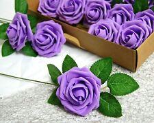 25pcs Artificial Foam Rose Heads Flowers Wedding Bride Bouquet Home Decors