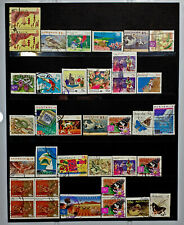AUSTRALIAN HIGH VALUE DECIMAL POSTAGE STAMPS USED MIXTURE PAGE WORTH OFF PAPER