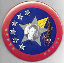 "6"" Bill Clinton 1992 Democratic National Convention New York City pinback button"