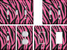 Pink Black Zebra Pattern - Light Switch Covers Home Decor Outlet