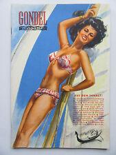 Vintage PinUp - Gondel Magazin 8/1950 im Top Zustand, Inhalt siehe Foto