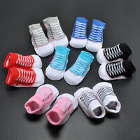 1Pair Baby Boys Girls Soft Sole Crib Shoes Toddler Infant Newborn Shoes Socks