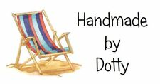 Personalised Mini Stickers labels x 65 - Handmade by - Deck Chair - seaside