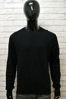 Felpa Maglione Nero Uomo BELSTAFF Taglia XXL Pullover Sweater Cotone Cardigan