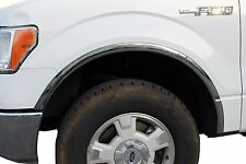 2004-2014 FORD F-150 PICKUP - POLISHED STAINLESS STEEL FENDER TRIM (No Drilling)