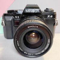 Minolta X-9 W/ MD 28-70mm f/3.5-5.8 Zoom Lens, Working! Student, Lomo, Retro!