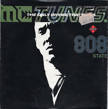 "MC TUNES vs 808 STATE - THE ONLY RHYME THAT BITES - PS - 90's  7"" VINYL"