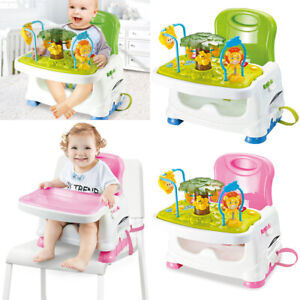 3 in1 Baby Activity Table Feeding Booster Seat Toddler Highchair Portable Travel