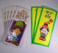 Vintage 1960s 1970s Birthday Cards Lot 8 Roth Cards With Envelopes Free Shipping