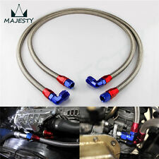 """55"""" / 63"""" 10AN Stainless Steel Braided Oil Filter Hose Oil Fuel Line + Fittings"""