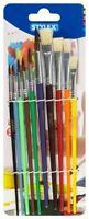 Schulmalpinsel Set 10 Stück  4 Borstenpinsel 6 Aquarellpinsel Pinsel von Stylex