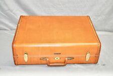 """Vintage Shwayder Bros Inc Samsonite 4632 leather Suitcase Split level 21"""""""