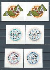 Brit Comm Tonga mnh stamp set and sheets on adhesive paper - Scouts - Jubilee