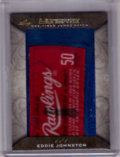 EDDIE JOHNSTON 17/18 Leaf Ultimate One-Timer Jumbo Patch # 1/1 Almost full Tag!!