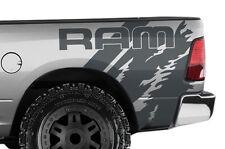 """Vinyl Decal Wrap Kit for Dodge Ram 1500/2500/3500 2009-2014 """"RAM"""" Quarter GRAY"""