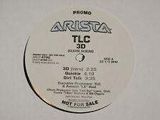 "TLC 3d clean album Lp 12""x2 RECORD SET PROMO"