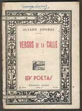 Alvaro Yunque Mini Book Versos De La Calle Volume 6 1924