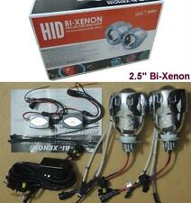 "2.5"" Universal Car Headlights HID Bi-Xenon Projector Lens Kit Angel/Devil Eye"
