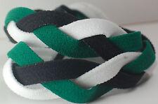 Green Black White Braided Hair Band Head Under Sweaty Headband Armour Non Slip