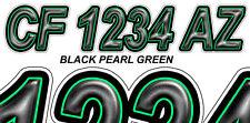 Black Green Custom Boat Registration Numbers Decals Vinyl Lettering Stickers