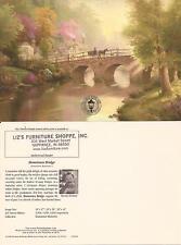 """Thomas Kinkade,""""HOMETOWN BRIDGE"""" Two (2) Postcards , NEW"""