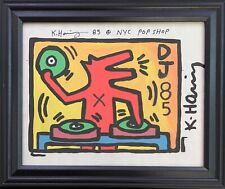 New ListingKeith Haring Drawing on Vintage Unique Paper Signed Nyc