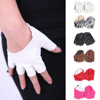 Sexy Women Half Finger PU Leather Gloves Fingerless Driving Show Gloves Palm NEW