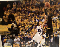 Stephen Curry and Kyrie Irving Hand Signed Photo 8x10 w/ COA Warriors Cavs Rare
