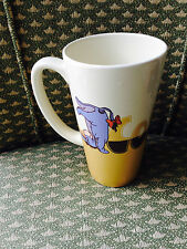 "Disney Store Eeyore Tall Latte Cup Mug 6"" Tall Excellent Condition Browns"