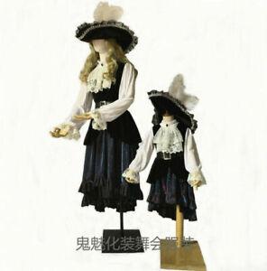 Kids Girls Pirate Costume Women Carnival Dress Halloween Party Cosplay Costume