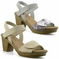Ladies Womens Mid Wedge Heel Memory Foam Casual Comfort Summer Sandals Shoe Size