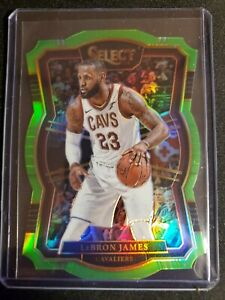 2017-18 LeBron James Select #122 Premier Level Prizm Lime Green /65
