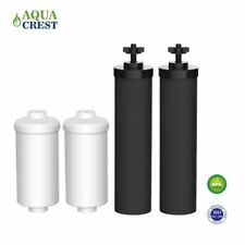 New 2 Black Berkey Replacement Filters & 2 PF-2 Fluoride Filters Combo Pack